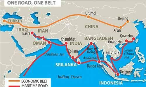 दुसऱ्या बीआरआय समिट मध्ये जम्मू-काश्मीर आणि अरुणाचल प्रदेश हा भारताचाच भाग असल्याचे चीनने नकाशामध्ये दाखविले.
