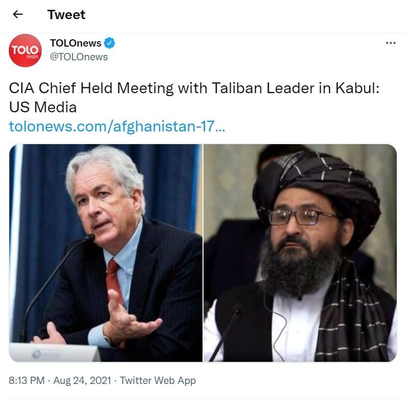 CIA chief Burns met Talib